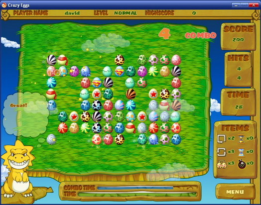 Click to view Crazy Eggs 1.1.8.2 screenshot